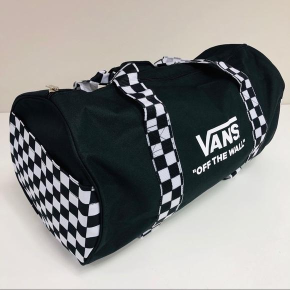Vans Black/White Checkerboard Duffle Bag
